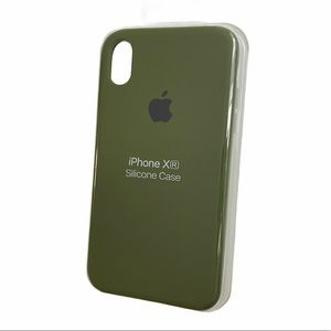 Army Green Silicone IPhone XR case